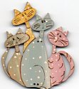 Batch of Cats Button by Theodora Cleave