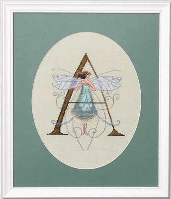 """Letter """"A"""" Fairies by Norah Corbet Cross Stitch Pattern"""