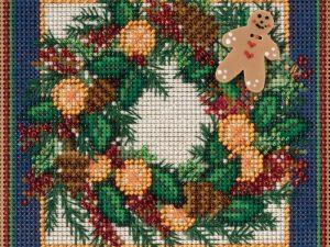 Spiced Wreath Mill Hill Cross Stitch Kit