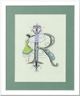 """Letter """"R"""" Fairies by Norah Corbet Cross Stitch Pattern"""