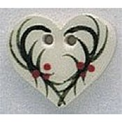Mill Hill Button 86015 Holly Heart