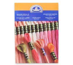 DMC Needlework Threads Colour Card with Thread Samples