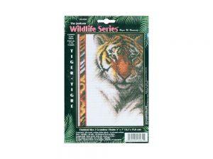 Tiger Cross Stitch Kit by Janlynn 13-0261