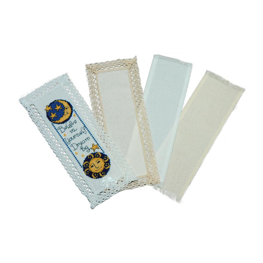 18 count Ivory Lace Edged Bookmark by Charles Craft