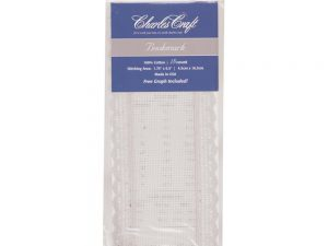 18 count White Lace Edged Bookmark by Charles Craft
