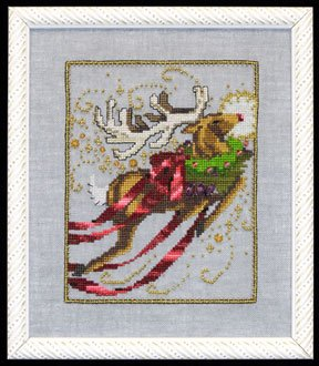 """Christmas Eve Couriers """"Rudolph"""" NC121 by Nora Corbett"""