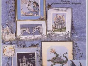 Castles, Dragons & Unicorns pattern by Stephanie Seabrook Hedgepath