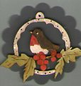 Christmas Robin Songbird Decoration by Theodora Cleave