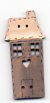Village Grey House with Cream Roof Button by Theodora Cleave