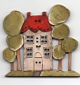 Maison Among the Trees Button by Theodora Cleave