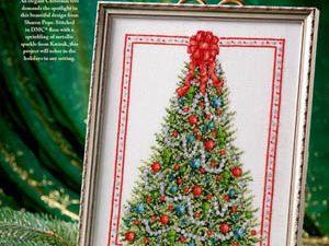 Elegant Christmas Tree Cross Stitch Pattern by Annie's