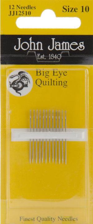 Big Eye Quilting Needles Size 10 John James