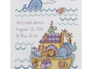 Noah's Ark Birth Record Cross Stitch Kit by Bucilla BU 45940