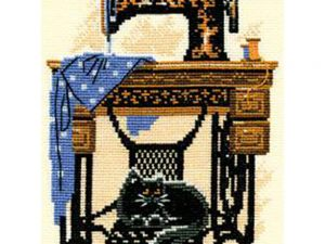 Sewing Machine Cat Cross Stitch Kit by RIOLIS 857