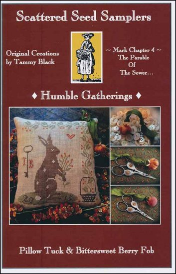 """Humble Gatherings"" Cross Stitch Pattern by Scattered Seed Samplers"