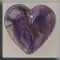 Glass Treasure 12099 Medium Quartz Heart Purple