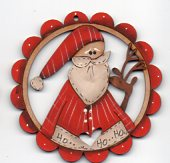 Take Me Santa in Red Scalloped Frame 78mm by Theodora Cleave