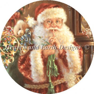 """Not a Creature was Stirring"" Christmas Ornament Pattern by Heaven and Earth Designs"