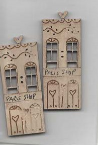 Paris  Shop  Buttons x 2 by Theodora Cleave