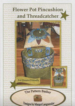 Flower Pot Pincushion & Threadcatcher Pattern by Margot Langueodoc