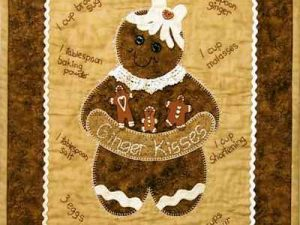 Ginger Kisses Wall Hanging kit by Nikki Tervo Designs