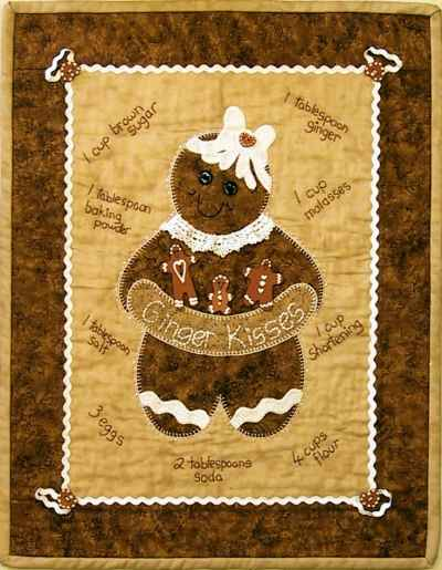 Ginger Kisses Wall Hanging kit by Nikki Tervo Designs