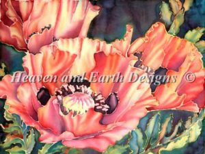 Silk Poppies Pattern by Heaven and Earth Designs HAEMAB 104