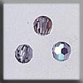 Crystal Treasure 13015 Black Diamond Round Bead 6mm 3 in pack