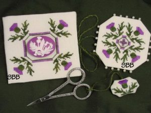 Thistle Sewing Set by Acorn House Cross Stitch Pattern