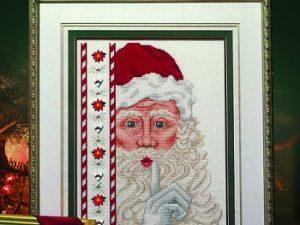 Santa with Buttons Cross Stitch Pattern by Stoney Creek Leaflet 319