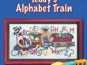 """Teddy's Alphabet Train"" Cross Stitch Pattern by Stoney Creek Leaflet 285"