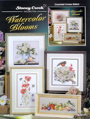 """Watercolour Blooms"" Cross Stitch Book from Stoney Creek #355"