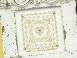 Golden Hearts Cross Stitch Pattern from JBW Designs #118