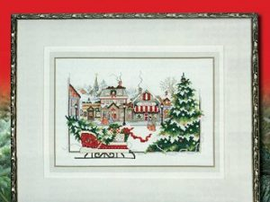 Christmas Sleigh in the Village Cross Stitch Pattern by Stoney Creek Leaflet 353