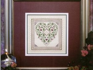Country French Heart Cross Stitch Pattern from The Sweetheart Tree
