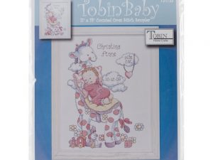Giraffe Birth Record Cross Stitch Kit by Tobin Baby T21733