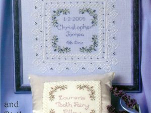 Baby's Keepsake Treasures and Birth Sampler from Patricia Ann Designs PAD53