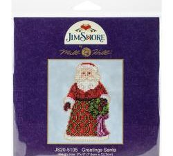 "Jim Shore ""Greetings Santa""  Mill Hill Kit JS205105"