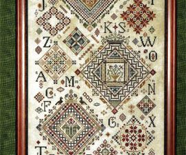 """Quaker Diamonds"" Cross Stitch Pattern by Rosewood Manor"