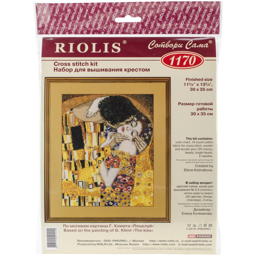 """The Kiss"" Riolis kit based on the Klimt painting R1170"