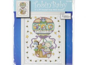 Balloon Baby Birth Record Design Works Cross Stitch Kit from Tobin T21769