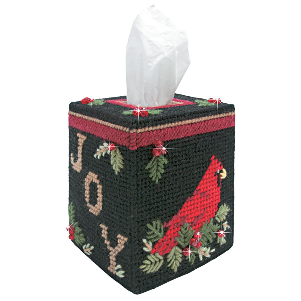 Cardinal Tissue Box Plastic Canvas Kit from Mary Maxim