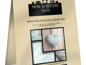 Hanging Heart Welcome kit by Sew & So On