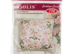 Roses Cushion Cross Stitch Kit by Riolis 720