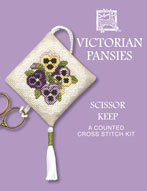 Victorian Pansies Scissor Keep Kit from Textile Heritage