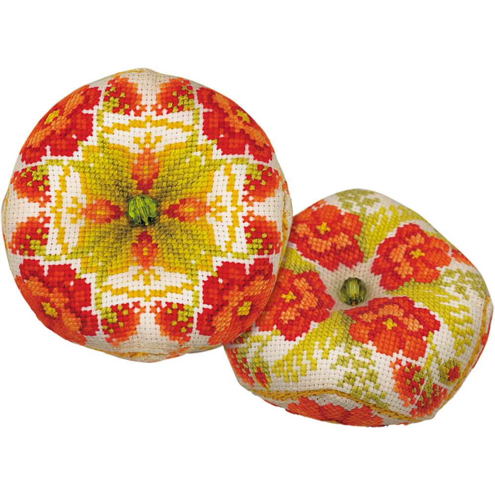 Biscornu Poppies Cross Stitch Kit by Riolis RI1620AC