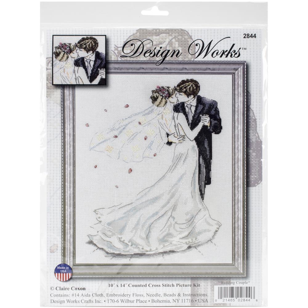 Wedding Couple Cross Stitch Kit by Tobin - Design Works DW2844