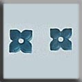 Glass Treasure 12187 Small Flower with 4 Petals Matte Aqua 2 in pack Mill Hill