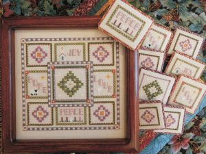 Advent Box Cross Stitch Pattern by Rosewood Manor X-1104