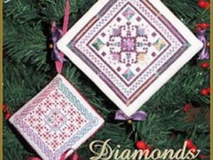 Diamonds for Christmas Cross Stitch Pattern from Dinky Dyes & The Cat's Whiskers